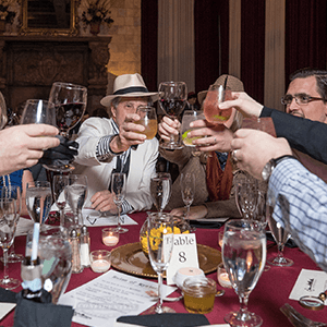 Philadelphia Murder Mystery guests raise glasses